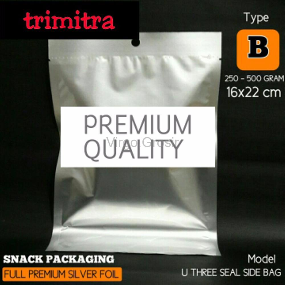 Kemasan Aluminium Foil Plastik Harga Shopee Indonesia Standing Pouch Kombinasi Bening 250 Gram