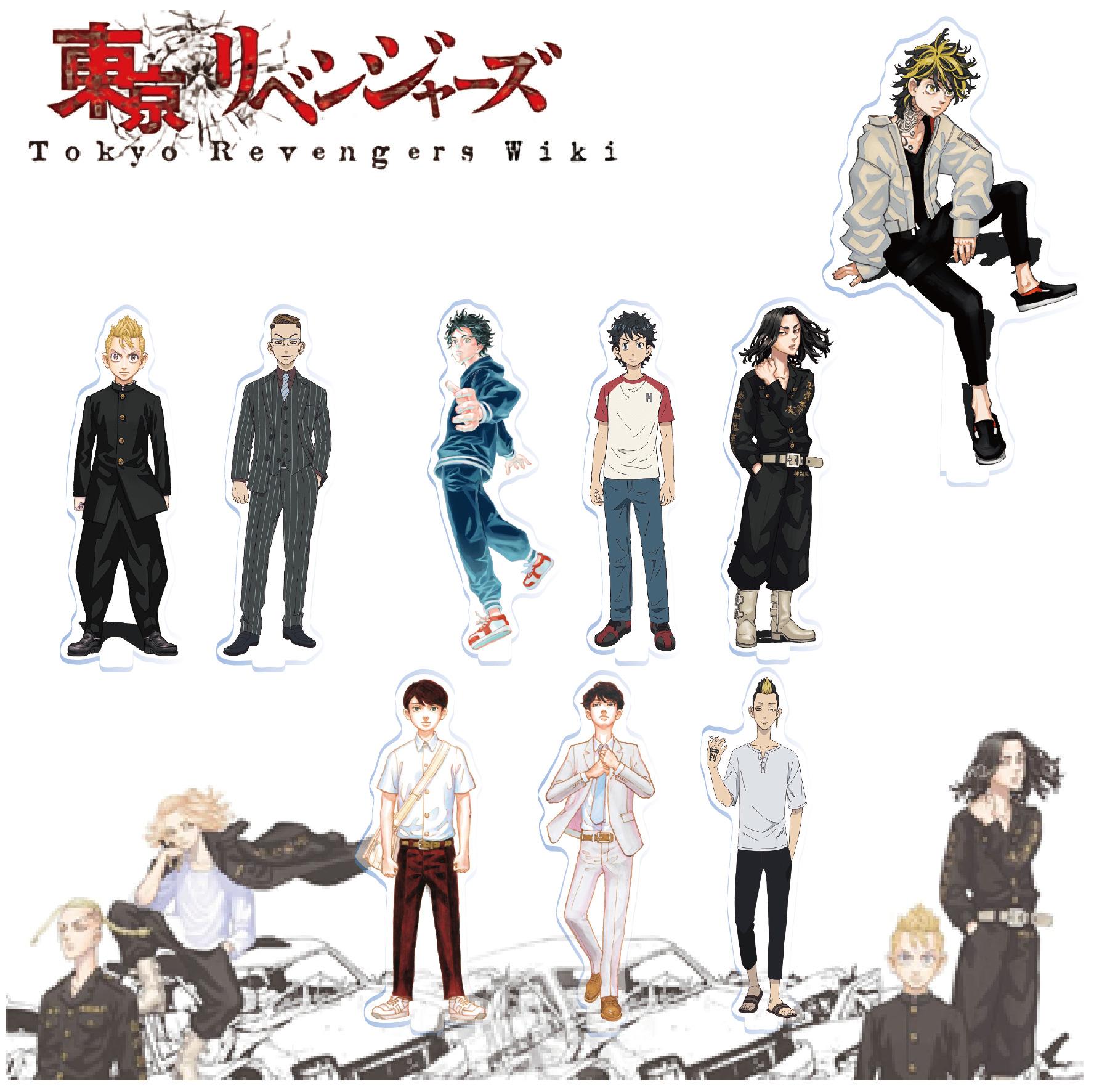 Mainan Action Figure Tokyo Revengers Manjiro Sano Ryuguji Draken Mikey Bahan Akrilik Ukuran 15cm Untuk Dekorasi