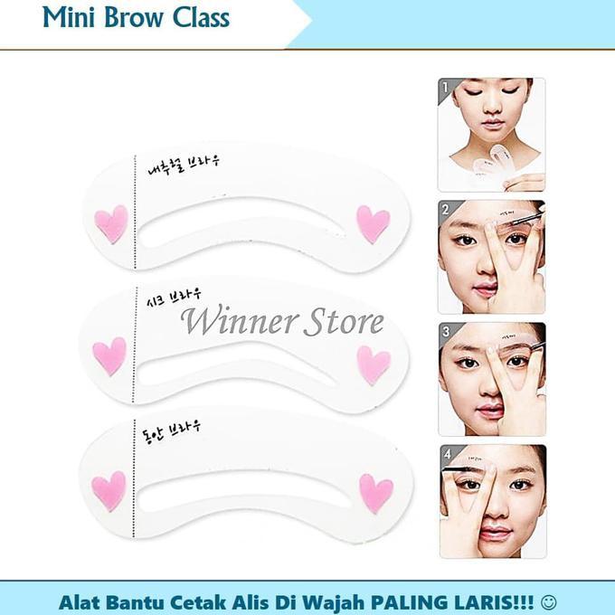 Cetakan / Cetak Alis - Mini Brow Class - 1 Set Isi 3 Pola   Shopee