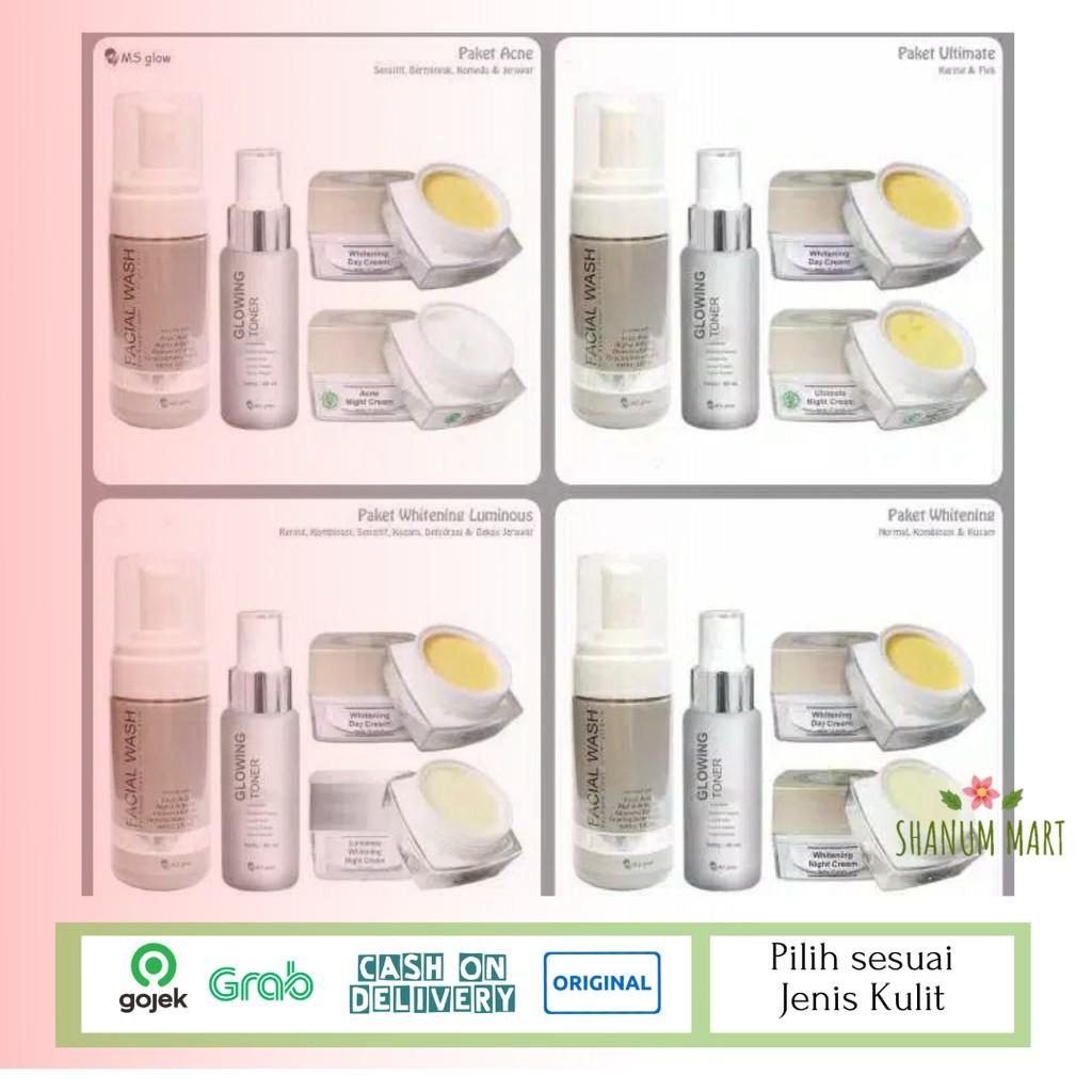 Ms Glow Skincare Msglow Paket Whitening Acne Jerawat Ultimate Flek Pemutih Wajah Terbaik Shopee Indonesia