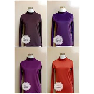 Manset Kaos Muslimah  Dalaman Kaos Spandek Sutra Allsize Fit To M dan XL  Kerah Leher  05473d2779