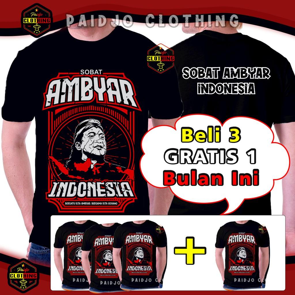 Kaos Distro Kata Kata Original Sobat Ambyar Shopee Indonesia