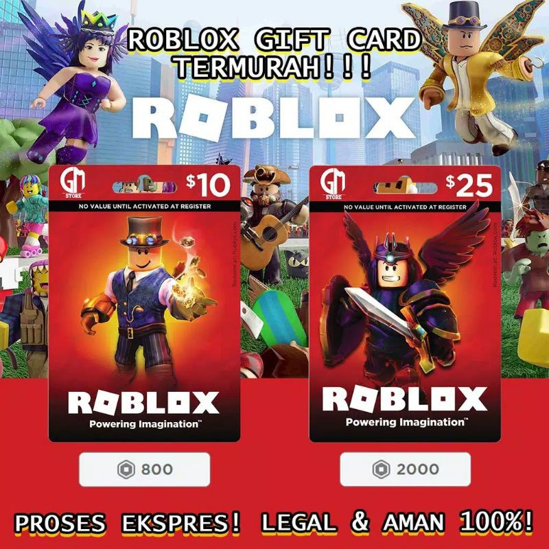 kartu roblox robux 100% asli