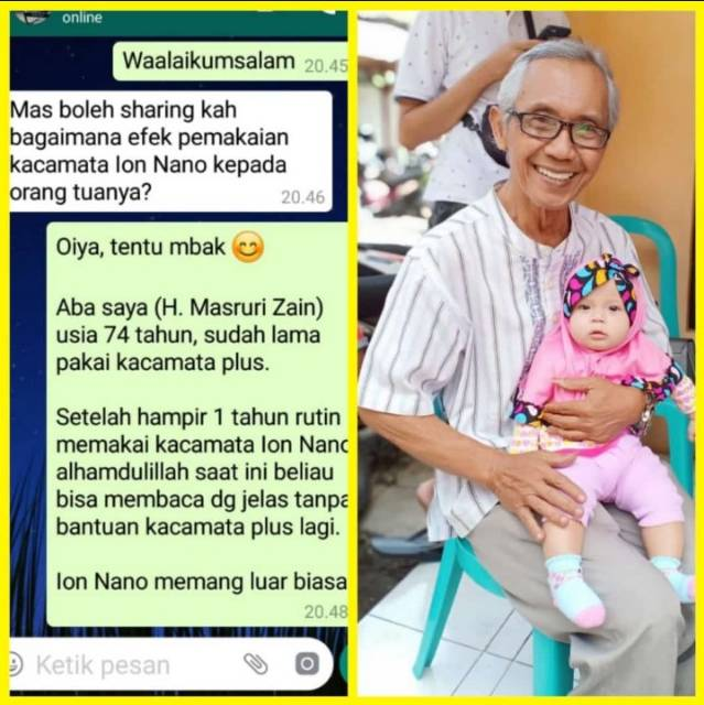 K Ion Nano Kacamata Terapi Min Plus Dan Lainya Shopee Indonesia