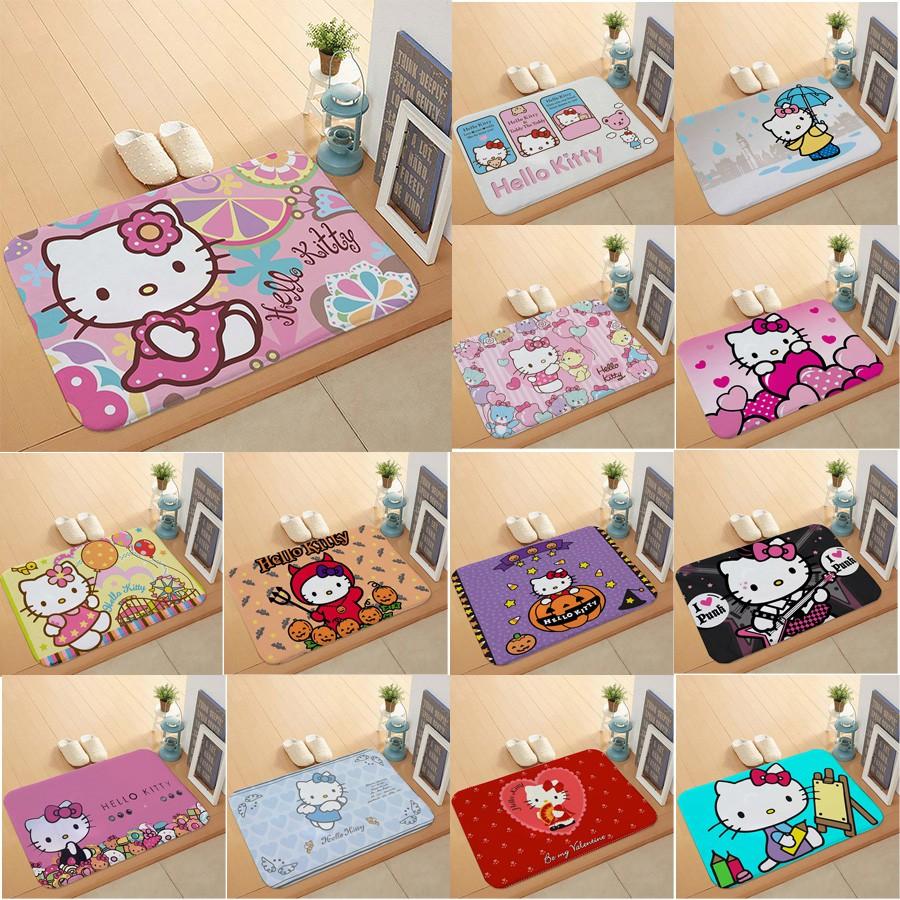 Hello Kitty 40 X 60 Cm Karpet Flanel Keset Pintu Kamar Tidur