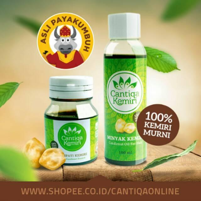 penumbuh rambut organic minyak kemiri obat rontok & ketombe Minyak Dan Saripati Cantiqa Kemiri