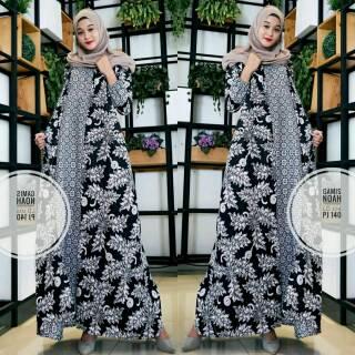 Model Baju Gamis Kombinasi Batik 2020 Hijabfest