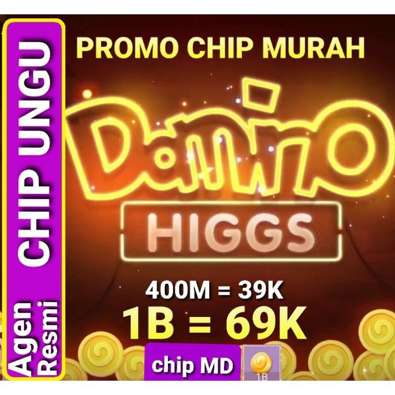KOIN CHIP MD/UNGU HIGGS DOMINO ISLAND 1B-5B COIN HOKI