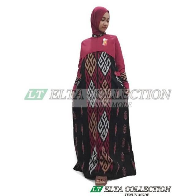 Gamis Tenun Lombok Kombinasi Shopee Indonesia