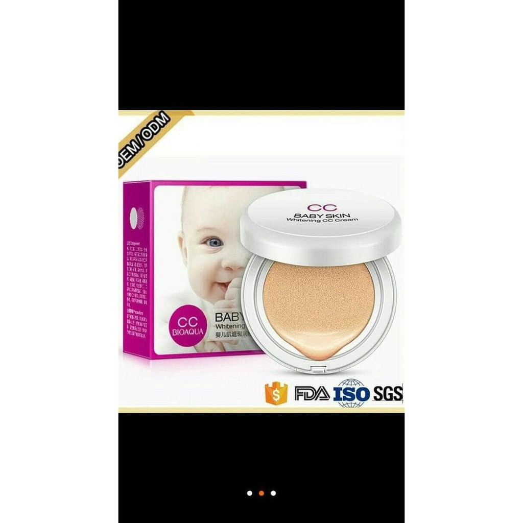 Ivory 02 Baby Skin Bioaqua Air Cushion Cc Cream Shopee Indonesia White Bb Exquisite Delicate Plus Refill