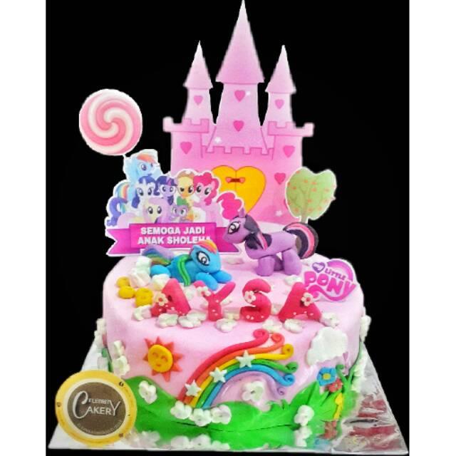 Kue Ultah Ulang Tahun My Little Pony Fondant Cake