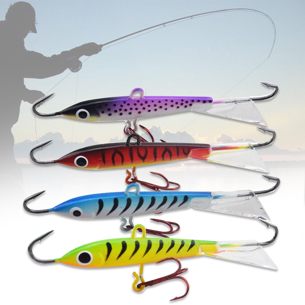 Lifelike Colorful Winter Hard For Ice Fishing Outdoor 3D Eyes Artificial Bait