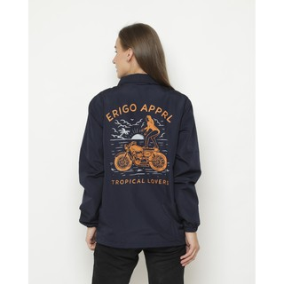 Erigo Coach Jacket Tropical Lovers Navy
