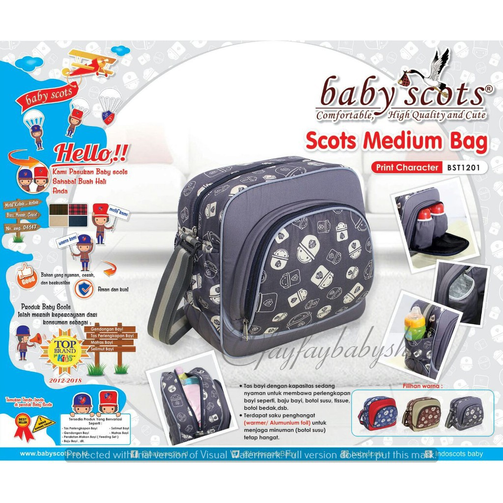 BABY SCOTS Tas Perlengkapan Bayi MOMMY BAG PLATINUM - Diapers Bag MB045 | Shopee Indonesia