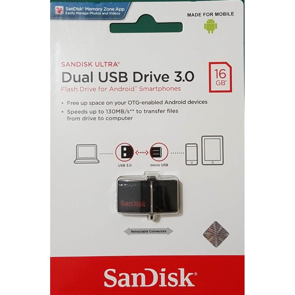 Flashdisk SanDisk Ultra Dual USB Drive Type-C - SDDDC2 - 128GB   Shopee Indonesia