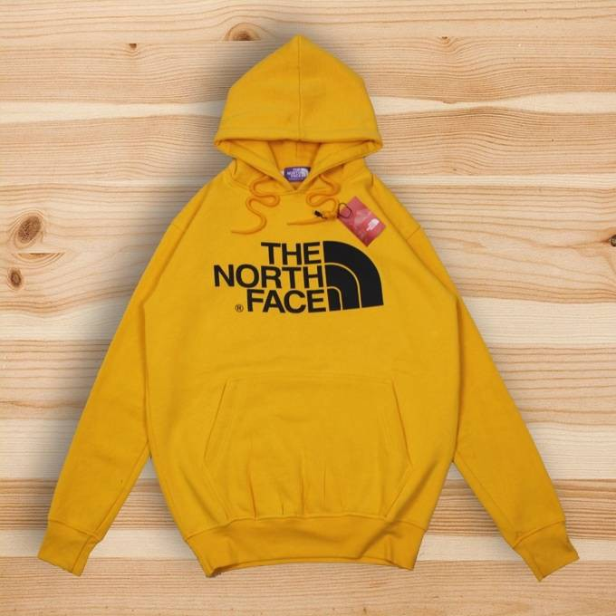 Jaket Hoodie The North Face Logo Mustard Yellow Shopee Indonesia
