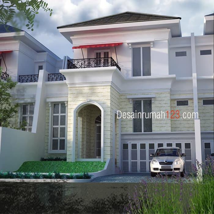 Desain Rumah Klasik 2 Lantai Di Lahan 12 X 18,5 M2 | DR – 1203 | Shopee Indonesia
