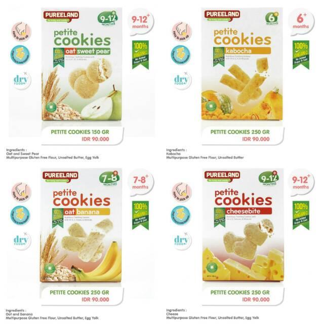 Cemilan Bayi Sehat Petite Cookies Pureland Shopee Indonesia