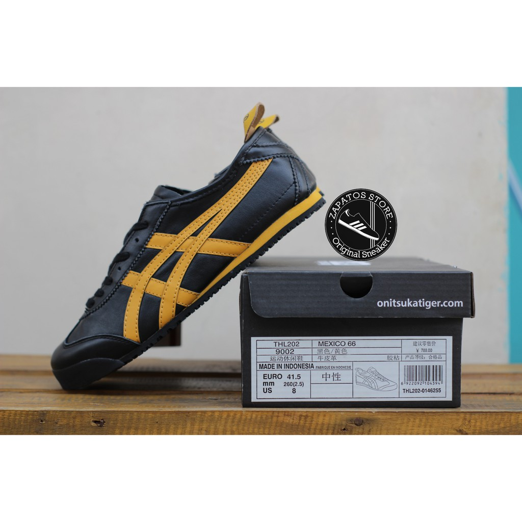 new product bada1 530b9 ONITSUKA TIGER MEXICO 66 BLACK YELLOW ORIGINAL BNIB