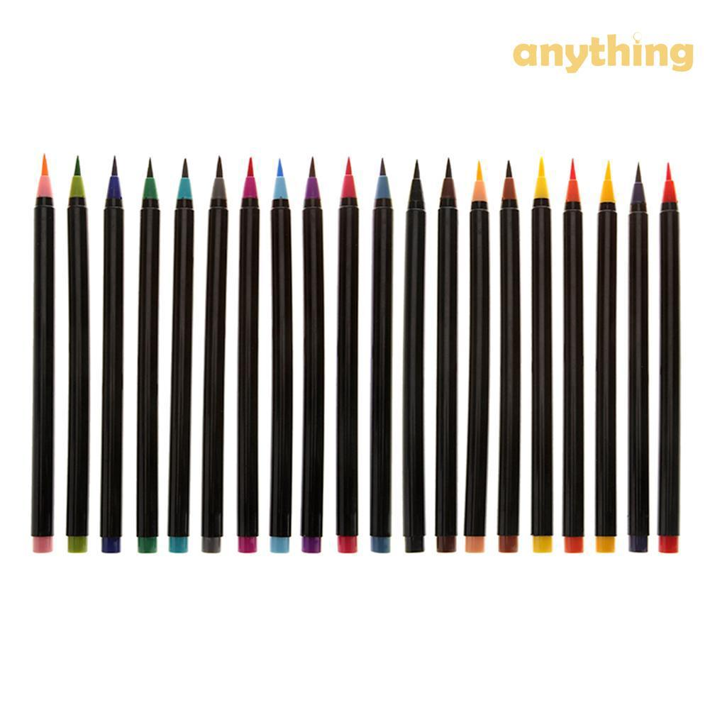 20 Warna Set Pen Cat Air Lembut Untuk Kaligrafi