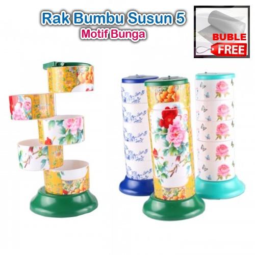 Tempat Bumbu Rak bumbu 5 in 1 Set terdiri dari 5 susun, bisa diputar | Shopee Indonesia