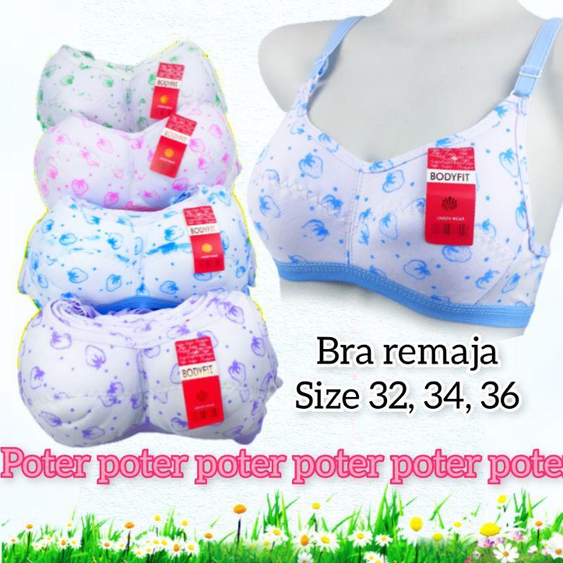 sport bra remaja bh ABG anak muda perempuan cewek wanita size 32 34 36 motif cup A B kecil fit