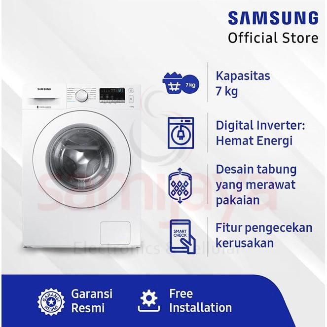 Mesin Cuci Bukaan Depan Front Loading Samsung Ww70j42g0kw 7kg Bergaransi Shopee Indonesia