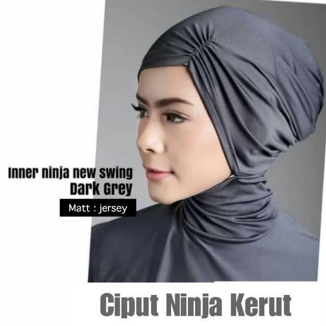 Ciput Ninja Kerut Bahan Jersey | Inner | Ninja Antem kerut | Shopee Indonesia