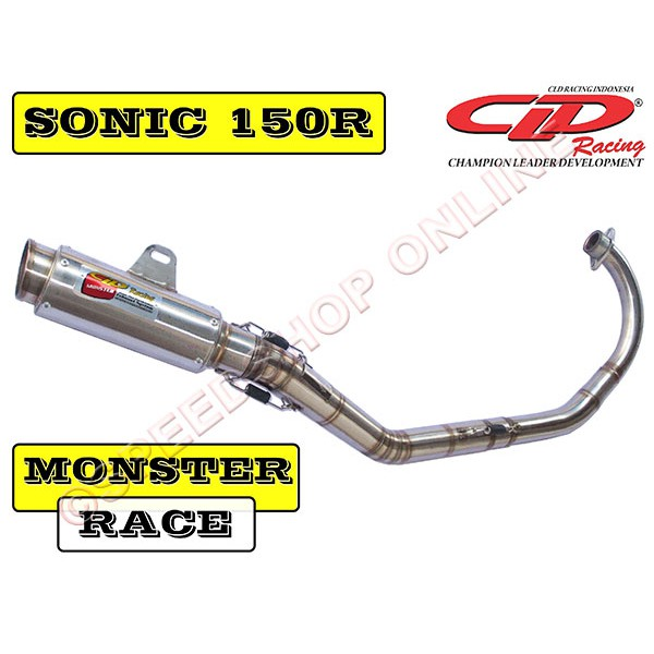 Knalpot Cld Sonic 150 R Type Monster Race Shopee Indonesia