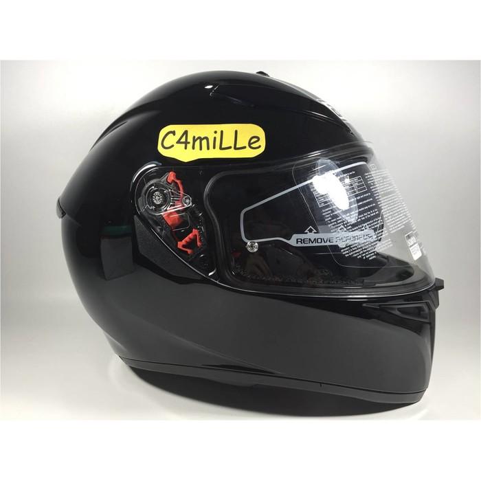 Helm Agv K3 Sv Solid Black Double Visor Full Face K 3 Sv Free Pinlock Shopee Indonesia