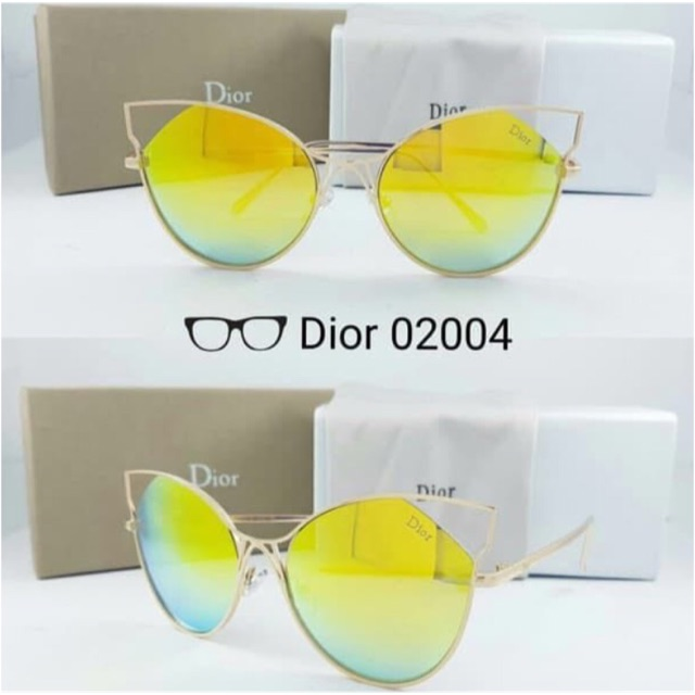 Kacamata dior kuning kacamata cat eye Dior sunglasses mirror yellow ... 26d8a65c5f