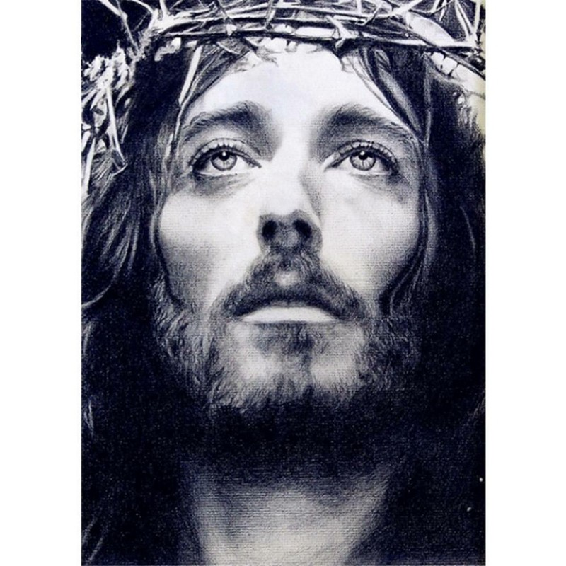 Lukisan Berlian Imitasi Motif Tuhan Yesus Mengenakan Mahkota Berduri Shopee Indonesia