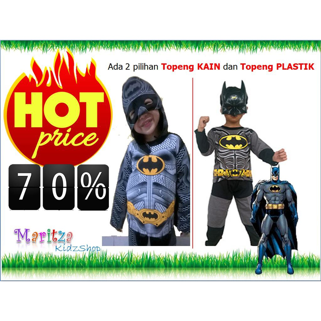 Spesial Baju Kostum Anak Karakter Superhero Superman Muscle Otot 2 5 Topeng Super Hero Tahun Cowok Murah Shopee Indonesia