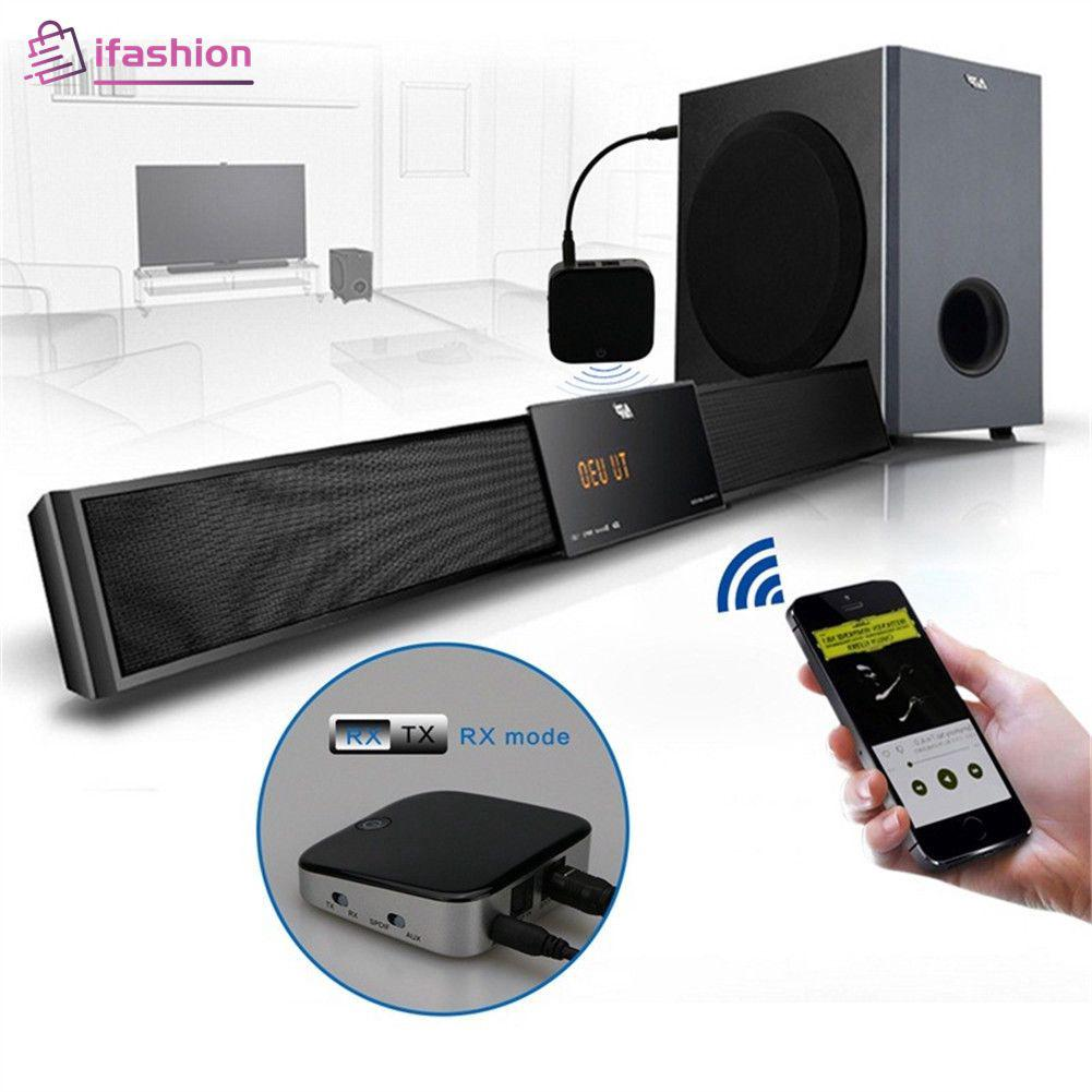 Bluetooth 5 0 Transmitter Receiver 3 5mm & Optical Adapter Low Latency For  TV [Ifashion]