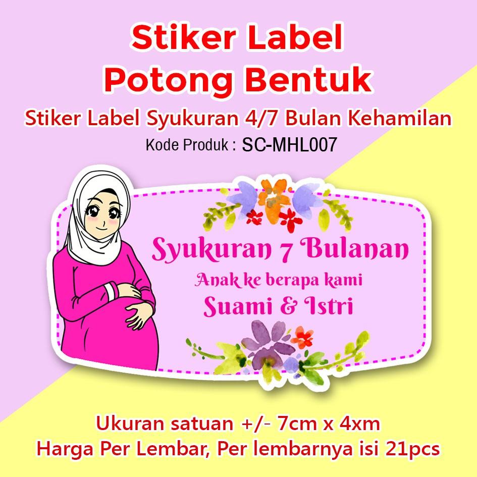 Stiker Label Syukuran 4 Atau 7 Nujuh Bulan Kehamilan Tumpeng Mini Shopee Indonesia