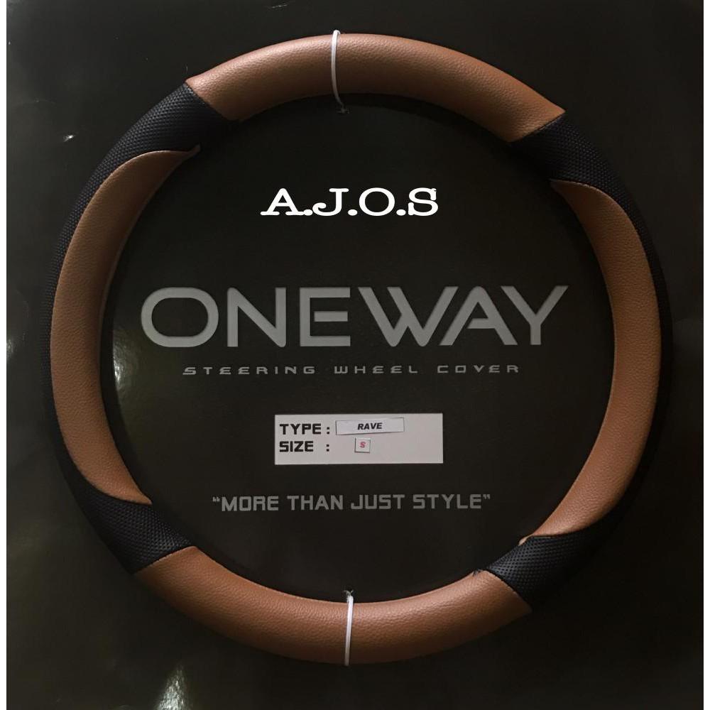 Sarung Stir Oneway Steer Cover Rave Ajos Shopee Indonesia Custom Ac Milan Kulit Import