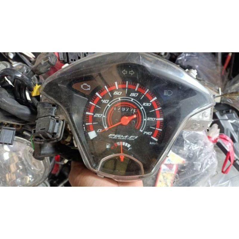 spedometer beat fi esp tahun 2015 barang bekas original copotan motor barang masih normal