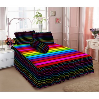 Kintakun Sprei Rumbai D'luxe - 180 x 200 B2 (King) - Rainbow | Shopee Indonesia