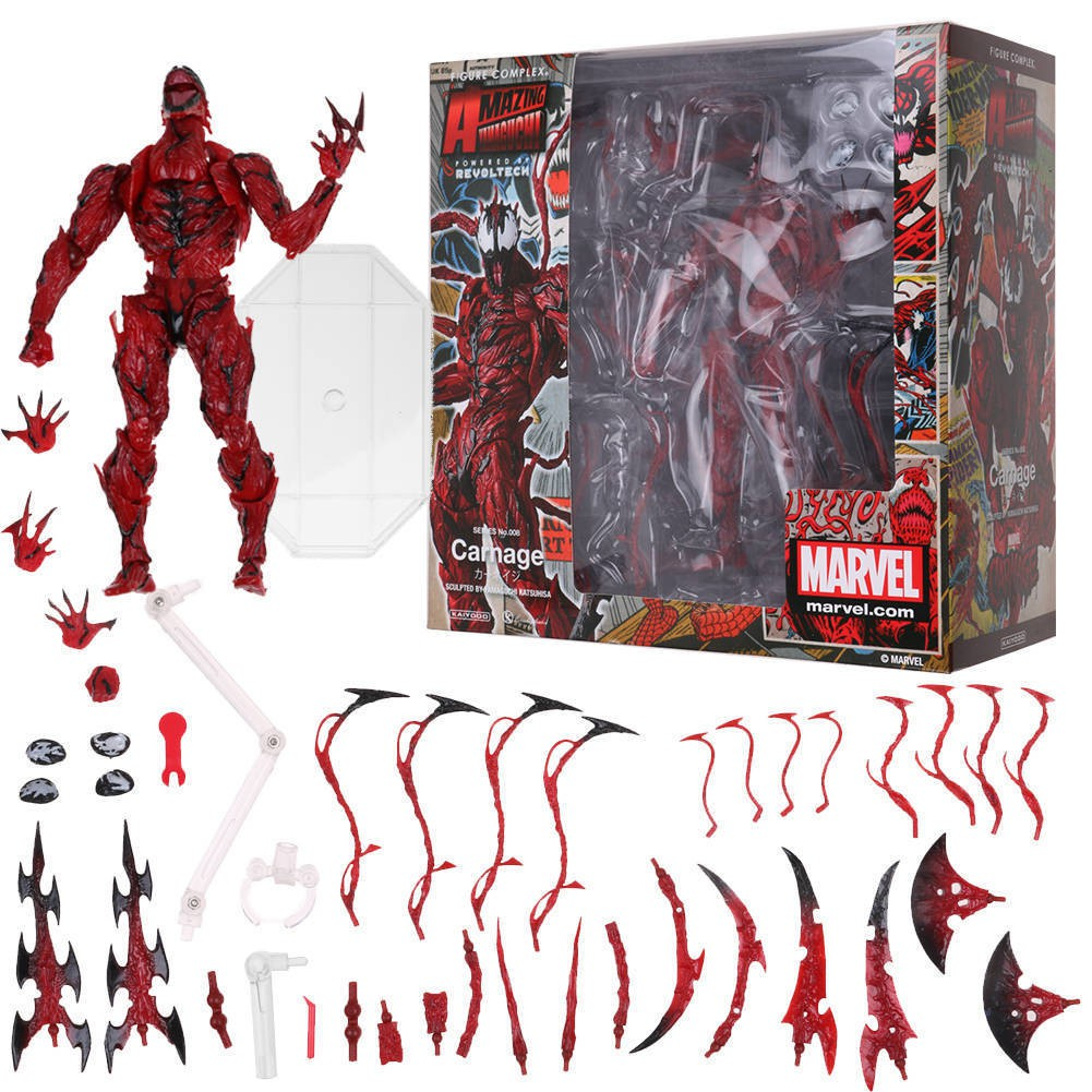 Mainan Action Figure Stcok Marvel Carnage Red Venom No Revoltech Series Bahan Pvc Shopee Indonesia