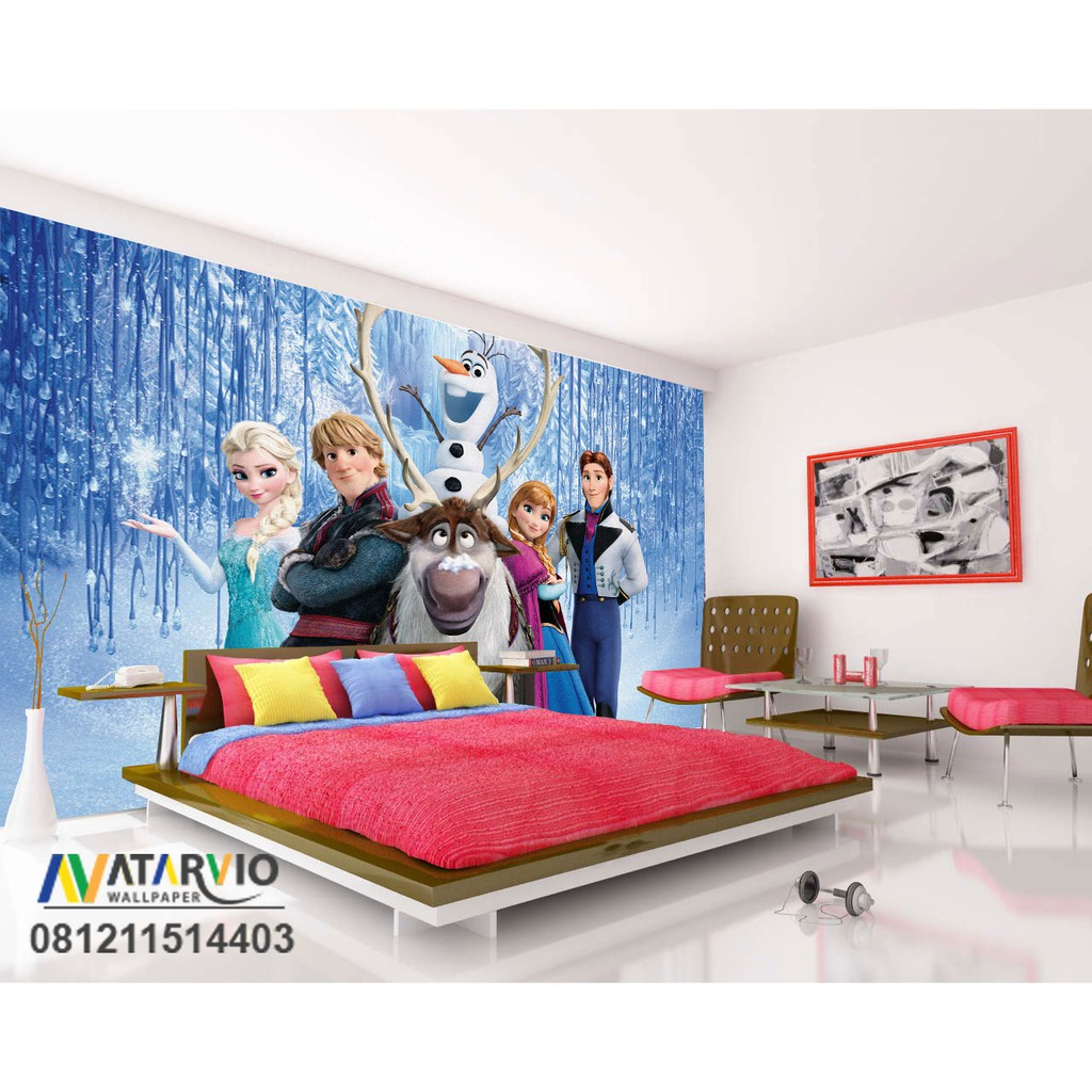 Wallpaper Dinding Custom Frozen Wallpaper Custom Murah