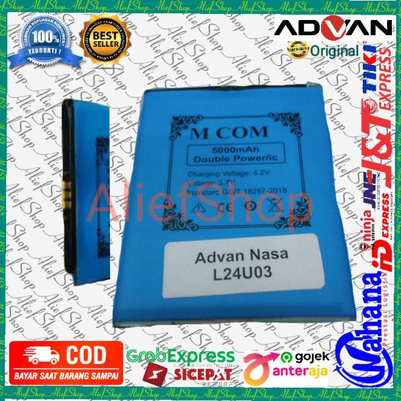Batrai Advan Nasa L24U03 Batre konektor tengah MODIF Baterai Original