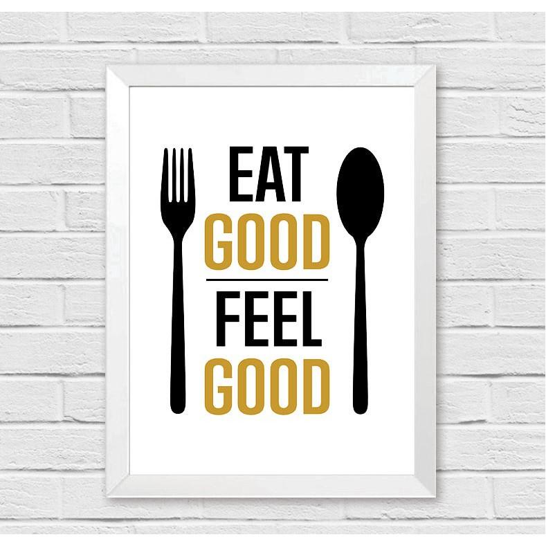 Poster Pajangan Hiasan Cafe Restoran Tempat Makan Eat Good Unik