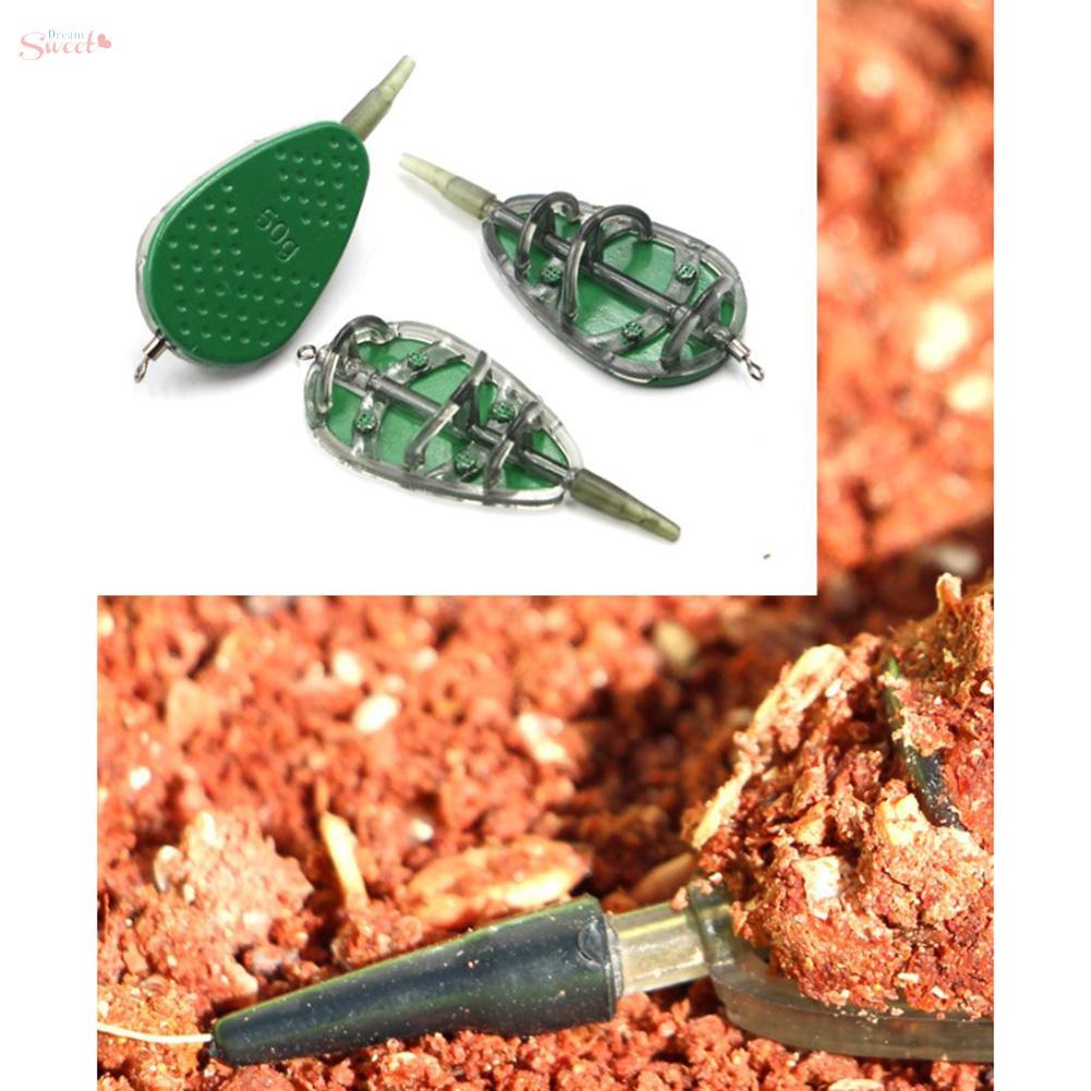 Details about  /1 set Feeders Lead /& plastic Tools 8.4*3.3cm//pcs Carp Fishing Convenient