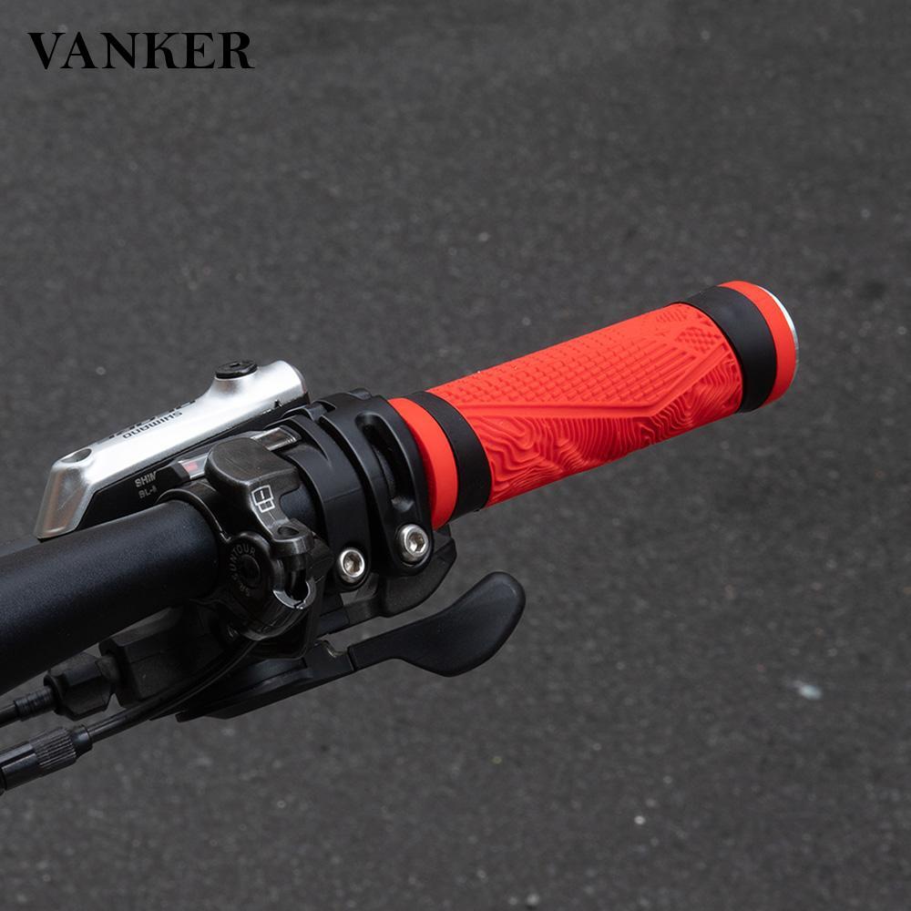 VANKER Ergonomic Antiskid Soft Silicone Bicycle Handlebar Grips for Mountain Bikes