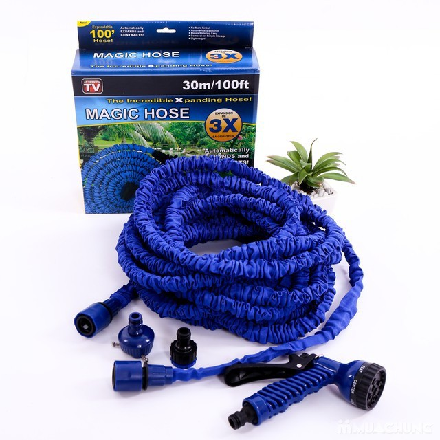 100FT Ultralight Flexible 3X Expandable Garden Magic Water Hose Pipe + Faucet Connector + Fast | Shopee Indonesia