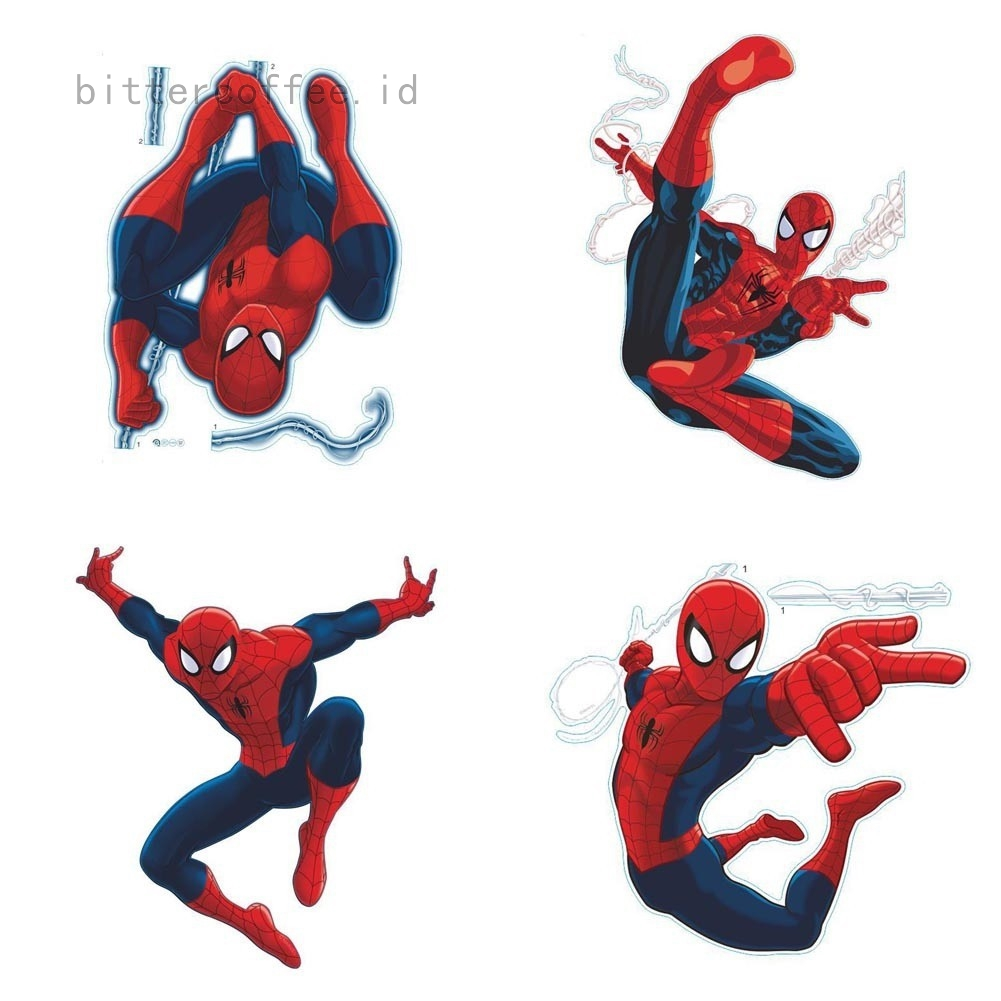 Stiker Dinding Dengan Bahan Mudah Dilepas Dan Gambar Spiderman Untuk Dekorasi Rumah
