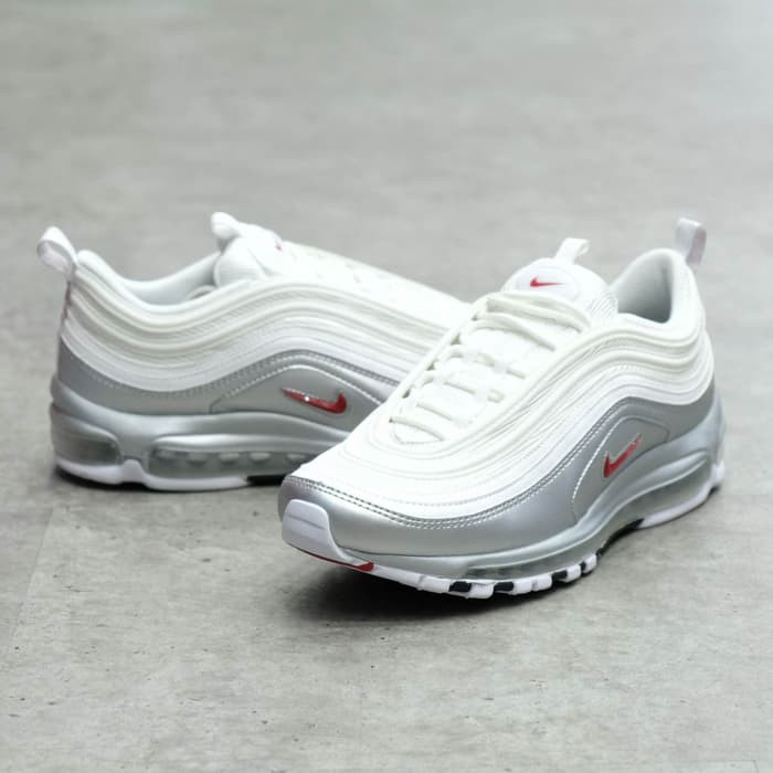 Nike Air Max 97 Metallic Silver White AT5458 100 100 Authentic Perak 46
