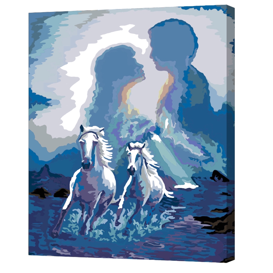 Lukisan Dengan Bahan Kanvas Tanpa Bingkai Dan Gambar Pasangan Kekasih Untuk Dekorasi Rumah