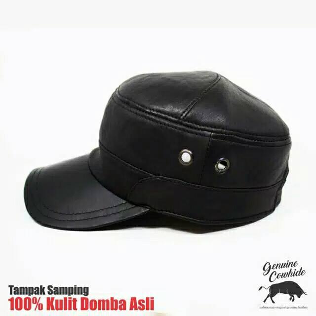 Topi kulit koboy topi kulit sapi asli berkualitas pengrajin Garut | Shopee Indonesia