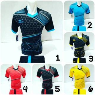 [ MZ 19 ] Baju Olahraga Jersey Bola Kaos Setelan Futsal / Volly